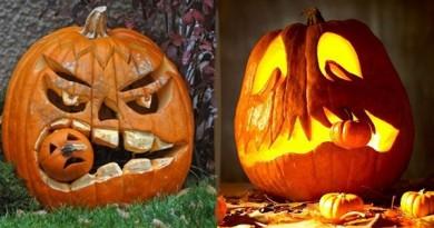 dovleci de halloween sculptati