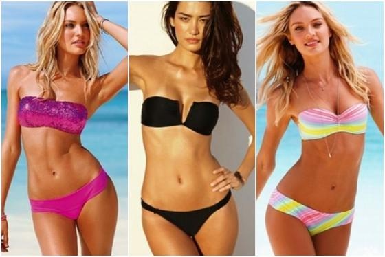 Modele costume de baie fara bretele pentru femei